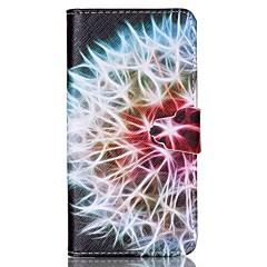 halv blommönster pu läderväska med kortplats och står för Samsung Galaxy S4 mini / s3mini / s5mini / s3 / S4 / S5 / S6