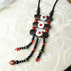 Ethnic Retro Tassel Alloy / Agate / Wood / Cowry Necklace Pendant Necklaces Party / Daily / Casual 1pc