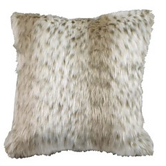 Urbanlife Faux Fur Occasional Decorative Pillow Cushion Cover ,  white spottedness