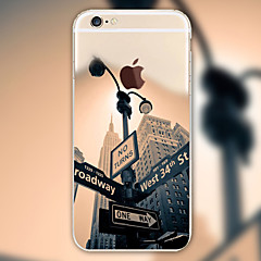 Scenery Signpost Pattern TPU Material Phone Case for iPhone 6/6S