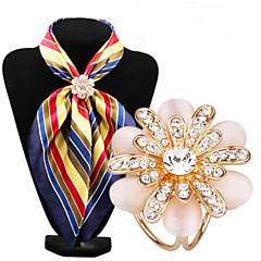 moda diamante inlay opala flor lenço fivela