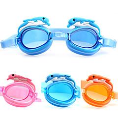 Made In China Goggles Πισίνα Παιδικό Κατά της ομίχλης / Αδιάβροχη / Ρυθμιζόμενο μέγεθος Οξικό Ακρυλικό Ροζ / Μπλε / ΠορτοκαλίΡοζ / Μπλε /