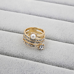 Fashion Women Elegant Multi Stone Set Ring