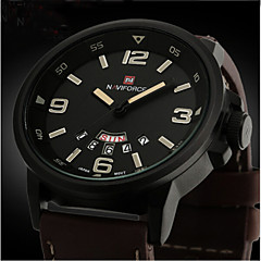 New Brand Fashion Men Sports Watches Men's Quartz Hour Date Clock Man Leather Strap Military Army Waterproof Wrist Watch Cool Watch Unique Watch