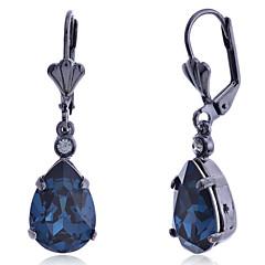 Kolczyki wiszące Modny luksusowa biżuteria Europejski Kamień szlachetny Kryształ sztuczna Diament Stop Kropla Black Biżuteria NaImpreza