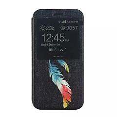 Mert Samsung Galaxy tok Állvánnyal / Betekintő ablakkal / Flip / Minta Case Teljes védelem Case Toll Műbőr Samsung Xcover 3 / J5