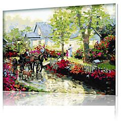 DIY digital oljemaleri ramme familiemoro maleri alt av meg selv regne x5034