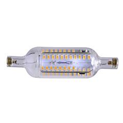 7W R7S LEDコーン型電球 埋込み式 76 SMD 4014 600-700 lm 温白色 明るさ調整 / 装飾用 交流220から240 V 1個