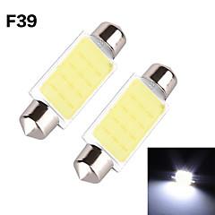YOBO 3W 350-380LM Festoon 39MM 1D COB LED Light for Car Steering Light Bulb / Reading Lamp - (2 PCS /DC 12V)