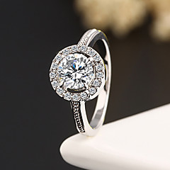 Statementringar Zircon Kubisk Zirkoniumoxid Bergkristall Legering Mode Silver Brun Smycken Bröllop Party Dagligen Casual 1st