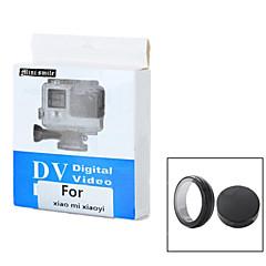 mini-sourire ™ en plastique UV lentille de filtre avec couvercle de lentille fixé pour xiaomi xiaoyi appareil de sport - noir