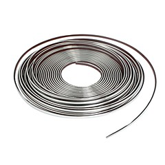 fordon dekoration mjuk kromlisten trim band silver tonen 4mm x 15m