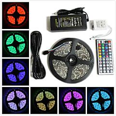 z®zdm vedenpitävä 5m 300x5050 SMD RGB LED nauhat valo ja 44key kaukosäädin ja 6A meille eu virtalähde (ac110-240v)