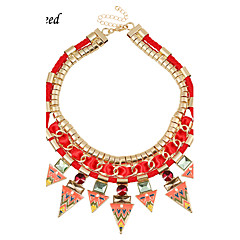 D exceed New Design Brand Vintage Ethnic Multilayer Red Choker Necklaces & Pendants for Women Fashion Jewelry