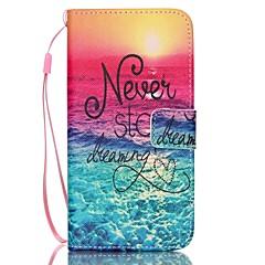 padrão mar de couro pu caso de telefone cartão de aleta material para Samsung Galaxy S3 / s3mini / S4 / s4mini / S5 / s5mini / S6 / s6edge