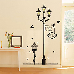 Beautiful PVC Bird Street Romantic Love Wall Stickers