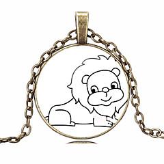 HUALUO®Cheap Retro Time Gem Necklace Sketch Cartoon Series