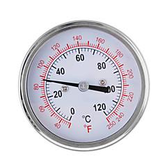 0-250 ℃ inoxidable calibre termómetro de acero para barbacoa parrilla de horno de doble escala