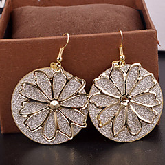 Top Quality Hollow Out Gritty Flower Shape Drop Earrings for Wedding Party