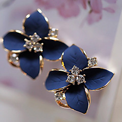 Stud Earrings Drop Earrings Pearl Crystal Gold Plated Simulated Diamond Fashion Flower White Rainbow Jewelry Party Daily Casual 2pcs