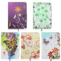 Flower Pattern High Quality PU Leather with Stand Case for 7 Inch Universal Tablet