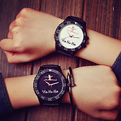 גברים נשים חדשות אוהבים לבנים רצועה יצירתית עמיד למים קריר מינימליסטי יוניסקס גומי קוורץ שעונים שעוני יד מזדמנים