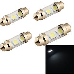 YouOKLight® 4PCS Festoon 36mm 2W 150lm  3-SMD5050 6000K  White Light LED Car Reading Lamp (12V)