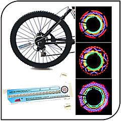 Sykkellykter , hjul lys - 3 Modus 100 Lumens Waterproof AAA x 3pcs Batteri Sykling/Sykkel / Fisking Blå Bike XIE SHENG YG-154