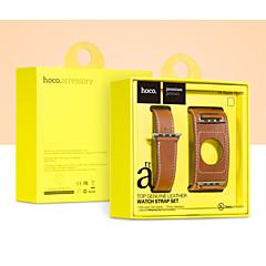 사과 시계 42mm / 38mm 용 어댑터 버클 hoco 고급 가죽 시계 밴드 스트랩 팔찌 교체 손목 밴드