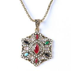 Pentagram Colorful Pendant Necklace Diamond Wedding Jewelry
