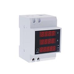 Multi-functional Digital Din Rail Current Voltage Power Ammeter Voltmeter Display Meter