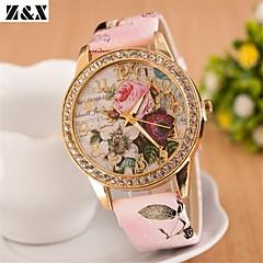 kvinners bohemia diamant blomster kvarts analog halsbånd watch (assorterte farger)