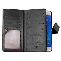 στερεό χρώμα της κάρτας περίπτερο δερμάτινη θήκη για Sony Xperia z3