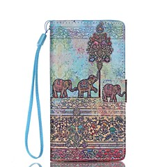 Για Θήκη Huawei / P8 Lite Πορτοφόλι / Θήκη καρτών / με βάση στήριξης tok Πλήρης κάλυψη tok Ελέφαντας Σκληρή Συνθετικό δέρμα HuaweiHuawei