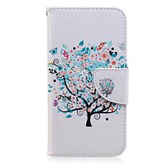 Varten Samsung Galaxy kotelo Korttikotelo / Lomapkko / Tuella / Flip / Kuvio Etui Kokonaan peittävä Etui Puu Tekonahka SamsungJ7 / J5 /