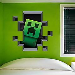 카툰 / 3D 벽 스티커 플레인 월스티커 , PVC 50*50cm
