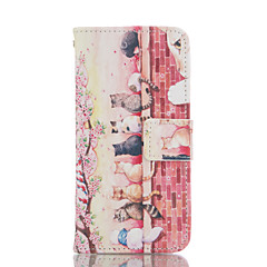 Cat PU Leather Wallet with Card Holder and Stand for Iphone 5 5S 5SE 5C 6 6S 6 Plus 6S Plus