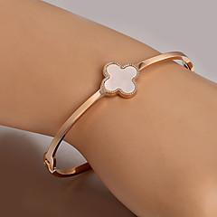 European  fashion titanium steel rose gold bracelet Clover Cuff Bracelets Wedding / Party / Daily / Casual 1pc