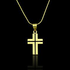18K Real Gold Plated Cross Pendant 1.7*3.6CM
