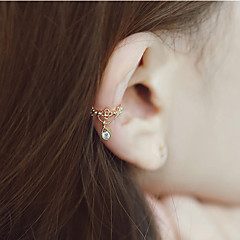 European Style Fashion Rhinestone Drop Clip Earrings