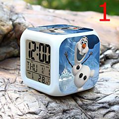 høy kvalitet kreativ måte unik herlig fargerik liten vekkerklokke ført elektronisk gaver / tegnefilm vekkerklokke