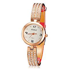 Dames Modieus horloge Kwarts PU Band Glitter Elegante horloges Zwart Wit Rood Bruin Wit Zwart Bruin Rood