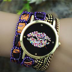 Dames Modieus horloge Kwarts Stof Band Bohémien Zwart / Wit / Blauw / Orange / Paars / roze Merk-
