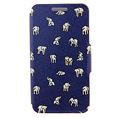 Kinston® Elephants Pattern Full Body PU Cover with Stand for Samsung Galaxy Note 2/Note 3/Note 4/Note 5/Note 5 Edge