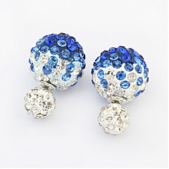 Fashion Wild Temperament Wild Diamond Spherical Earrings