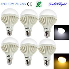 YouOKLight® 6PCS E27 12W 18*SMD5630 900LM  Warm White/Cool White Light  LED Energy saving Globe Bulbs (AC 220V)