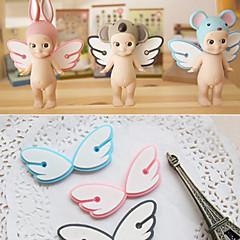 Angel Wings Design Rubber Wire Collector Bobbin Winder(1 PCS Random Color)