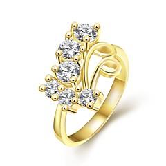 Damen Statementringe,Schmuck Golden / Rotgold Hochzeit / Party / Alltag Zirkon / vergoldet / Rose Gold überzogen 1pc,7 / 8