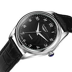 Herren Armbanduhr Quartz Wasserdicht Leder Band Schwarz / Braun Marke-
