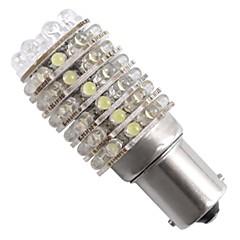 2 * carro 1156 1073 t25 freio cauda parada lâmpada branca 12v 63 led luz